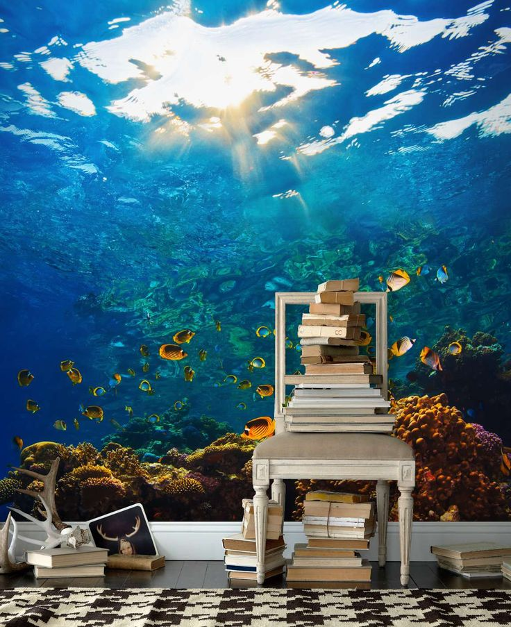 Korallrev+tapet