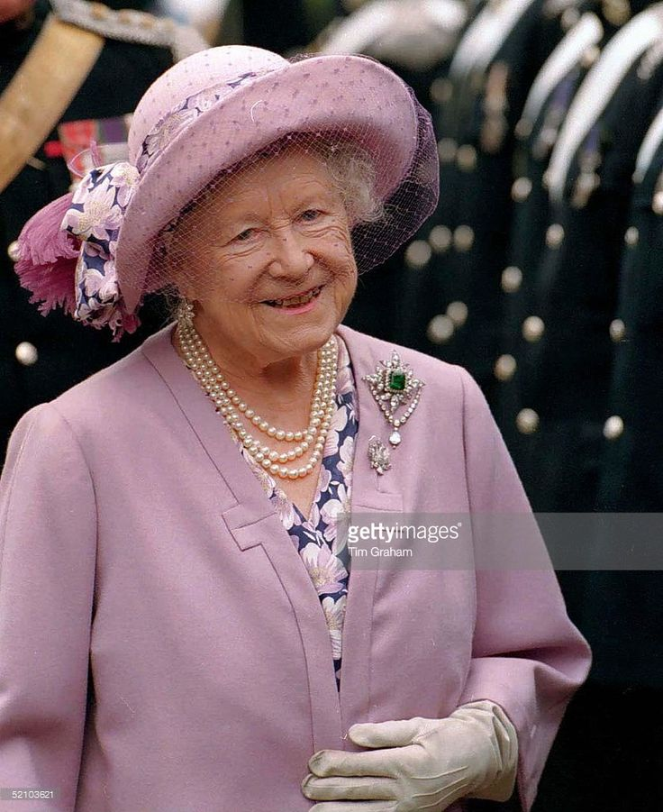 The Queen Mother At Cynthia Spencer House , Northampton, England. She Had Opened The Centre In 1976, Named After Her Former Lady-in-waiting Cynthia Spencer.