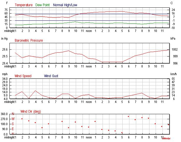Daily Weather History Graph