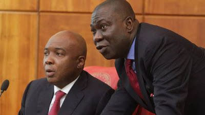 Just in: Saraki And Ekweremadu Evade Court Summons over forgery.   Saraki and Ekweremadu  Indications emerged last night that the Federal Government may serve court summons on President Bukola Saraki and Deputy President of the Senate Ike Ekweremadu respectively through the Acting Clerk of the National Assembly Mohammed Sani-Omolori following alleged forgery of the Senate Standing Rules of 2015. The duo has evaded service of court summons since they were informed about their pending forgery…
