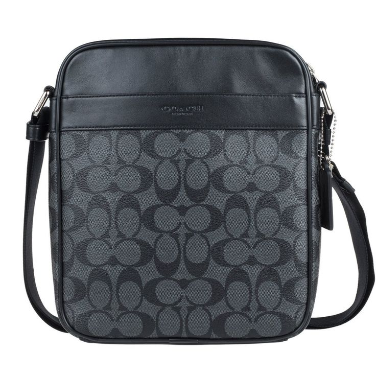 Coach Men's Flight Bag in Signature PVC 54788 in Charcoal/Black