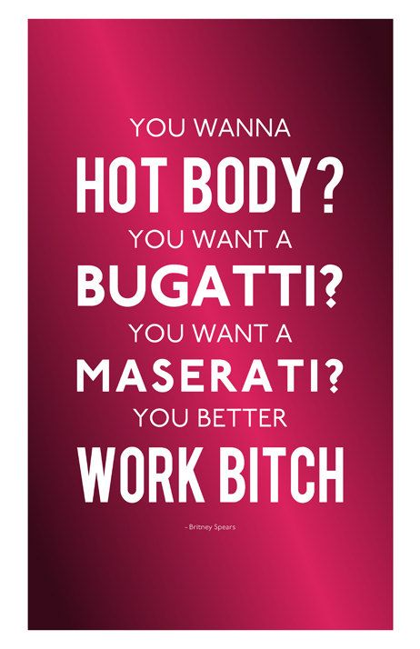Britney Spears Custom Poster Work Bitch by MusicAndArtCoUSA