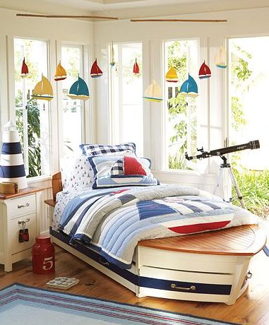 An awesome little boys nautical themed room from Pottery Barn.