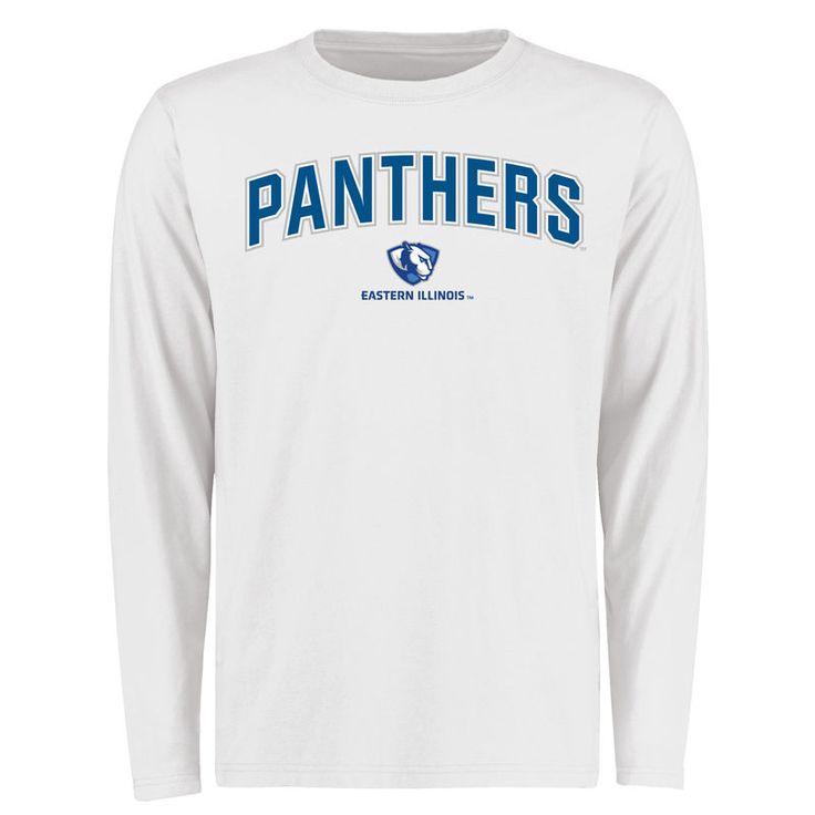 Eastern Illinois Panthers Proud Mascot Long Sleeve T-Shirt - White -
