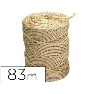 Rollo de 1/2 kg de cuerda sisal 3 cabos en color crudo, longitud aproximada: 83 metros.