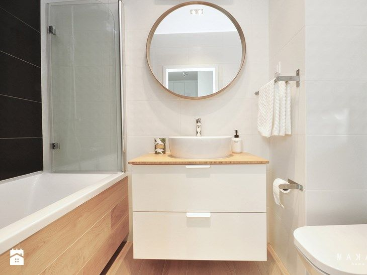 Ursynów Central Park - mieszkanie 37 mkw na wynajem - Mała łazienka w bloku bez okna, styl nowoczesny - zdjęcie od MAKAO home