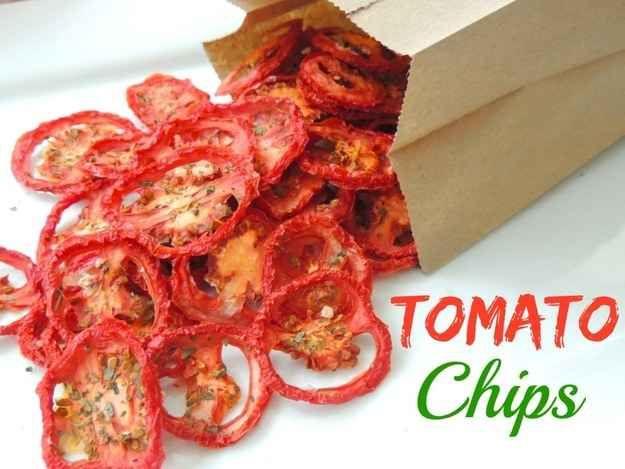 Tomato Chips | 23 Healthier Alternatives To Potato Chips
