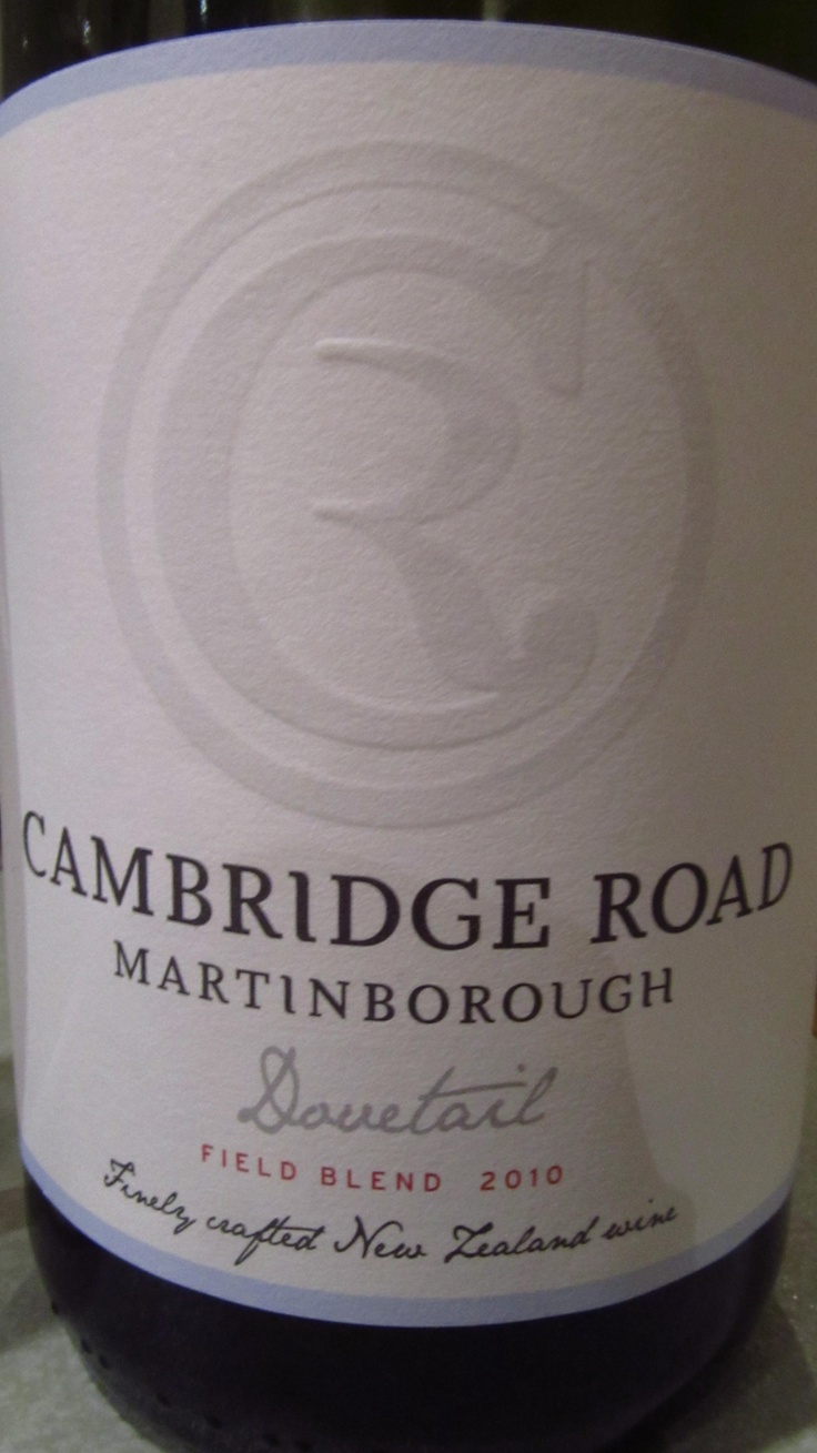 Cambridge Road from Martinborough, New Zealand. Grown biodynamically in their small boutique vineyard... and rather delish.