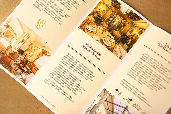 Stroganov Hotel Tri-fold Brochure #graphicdesign #designhotel #boutique #hotel #portugal