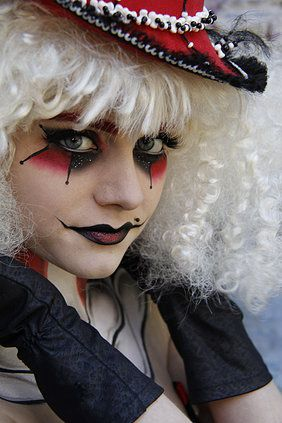 Image result for female jester makeup