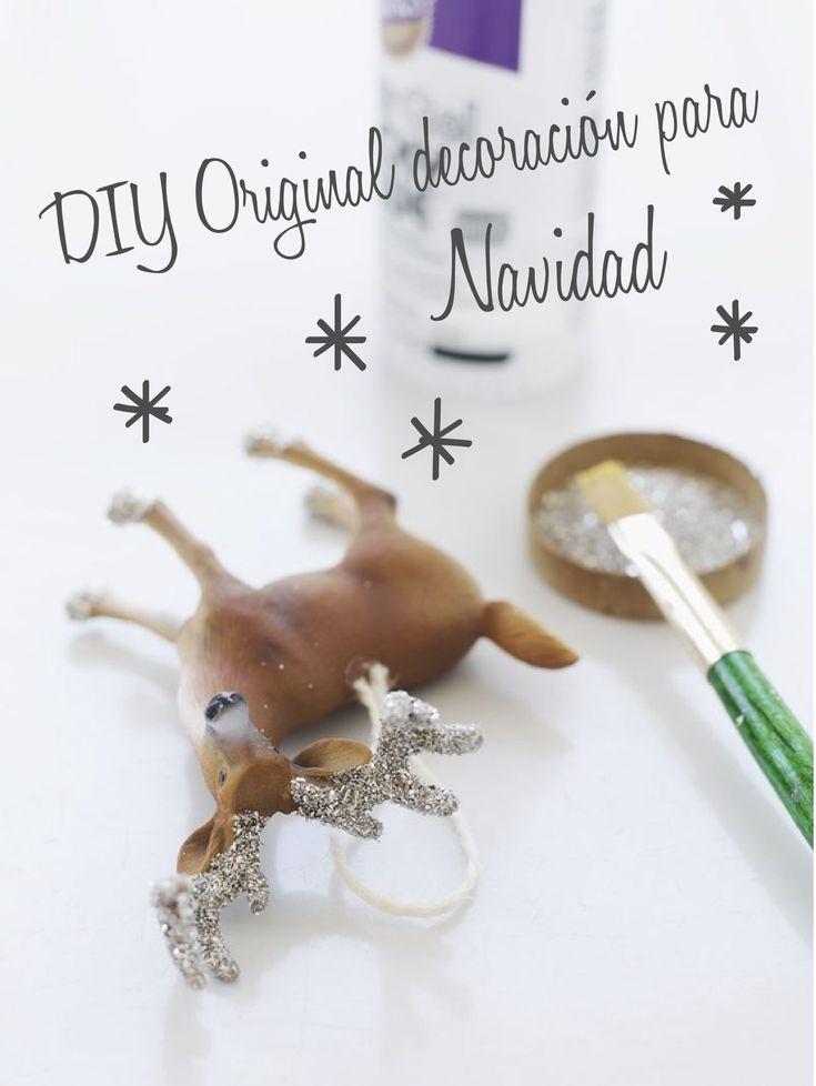 diy decorar animales de plstico para navidad estilo escandinavo