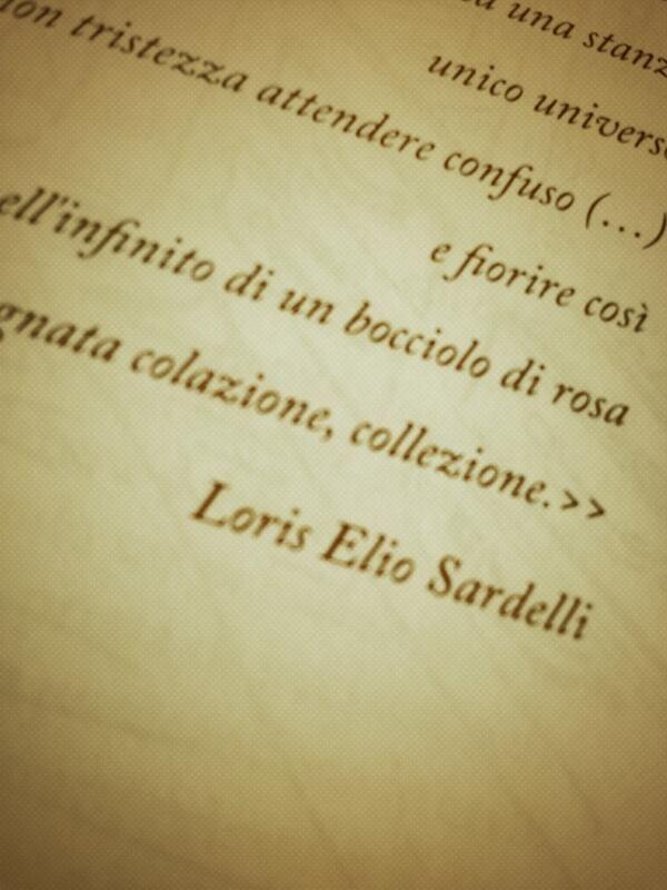 La #poesia di Loris Elio Sardelli