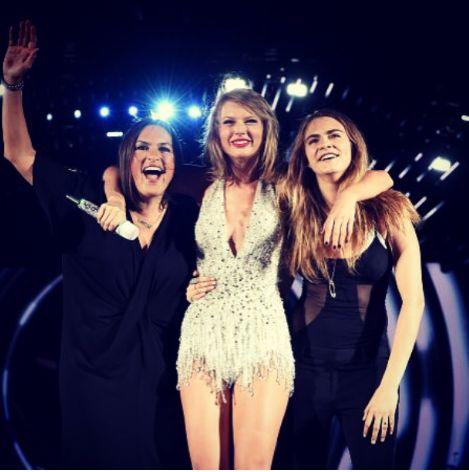 Mariska Hargitay, Taylor Swift and Cara Delevingne
