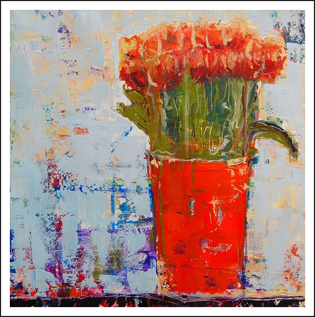 bucket of tulips