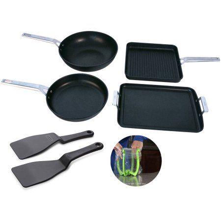 Valira Aire Mediterranean Premium 7-Piece Cookware Set, Black