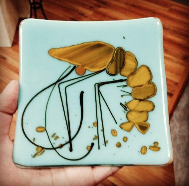 Glass Shrimp Plate