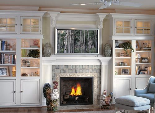 Beautiful fireplace and wall units