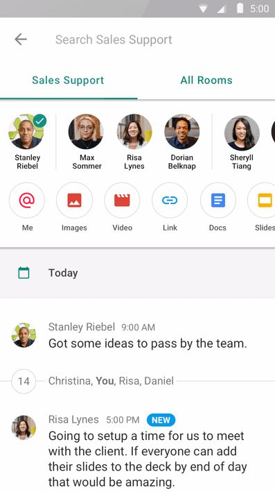 Google launches Hangouts Chat its Slack competitor for all G Suite users  After nearly a year in beta Google today announced that its Slack-competing Hangouts Chat platform is ready for prime time.  The internet giant announced last March that it was splitting itsHangouts communications platformin two with Hangouts Chat bringing messaging and collaboration smarts to teams andHangouts Meetfocused squarely on video conferencing. The former has hitherto remained a private beta product but from…