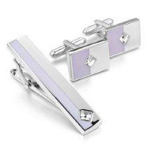 Necktie Tie Clip Bar Set CZ Cufflinks http://astore.amazon.com/ahoy-20/detail/B00FBZ0I74 | See more about Tie Clips, Cufflinks and Wedding Cufflinks.
