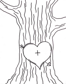 Tree. Make this into a stamp, or embroider it on a pillow, or put initials in it and print off then watercolor it.   Great gift!