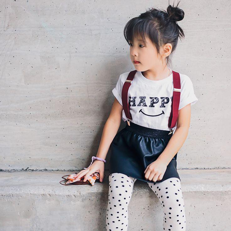 """Happy"" organic cotton toddler t-shirt. #wolfpupthreads #organickidsfashion #kidsfashion"