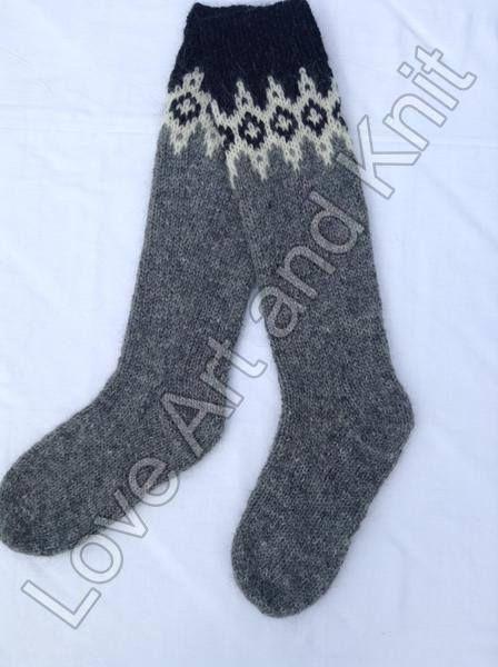 Ready to ship knee high socks woolen socks Icelandic woolen
