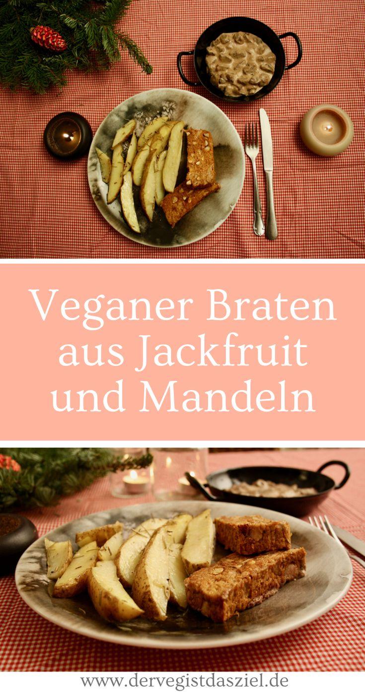 Veganer Braten aus Jackfruit und Mandeln