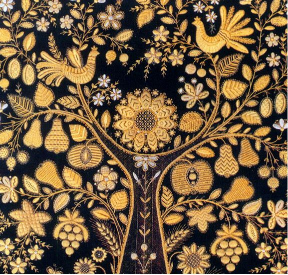 Russian Gold Embroidery . Moscow. 1980 (?). The variety of textures is amazing and inspiring