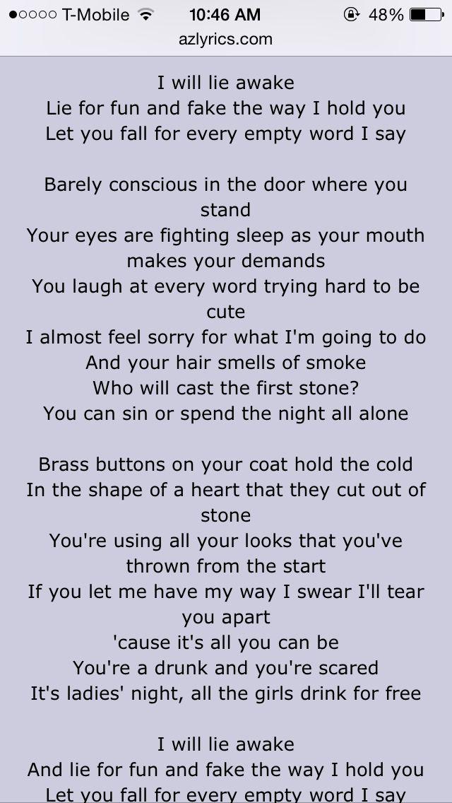 365 best music & lyrics images on Pinterest | Lyrics, Pretty words ...