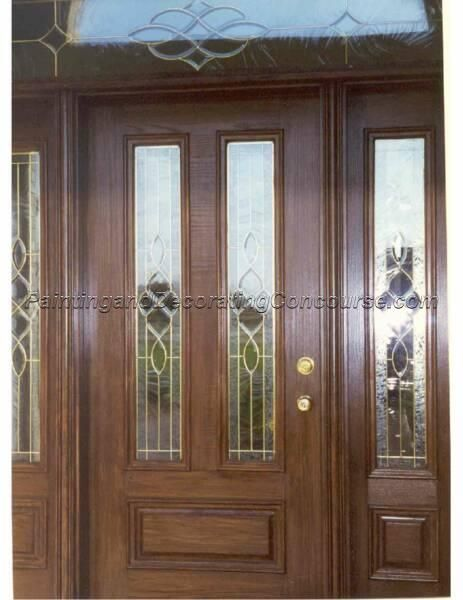 Painting an exterior steel or metal entry door you can for Faux wood front doors
