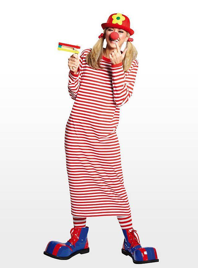 Rivel-Shirt rot-weiß Matrosen Marine gestreift Clown kleid  | eBay
