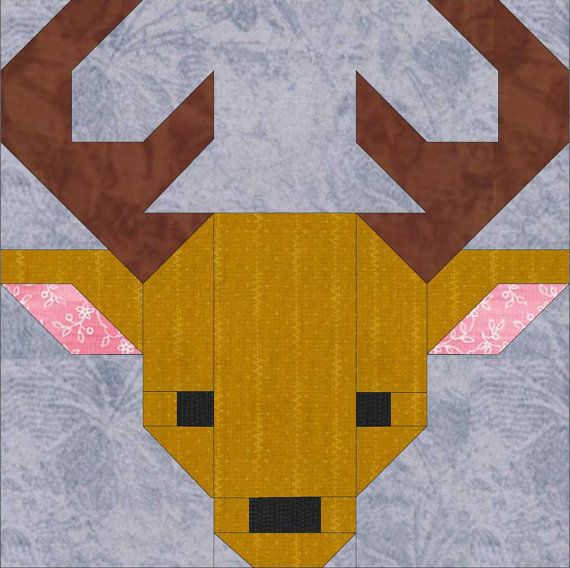Cerf 8 Quilt Block Pattern PDF téléchargement par SewFreshQuilts