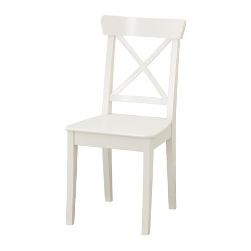 INGOLF Chair IKEA Solid wood is a durable natural material.  Adorbable dining chairs.