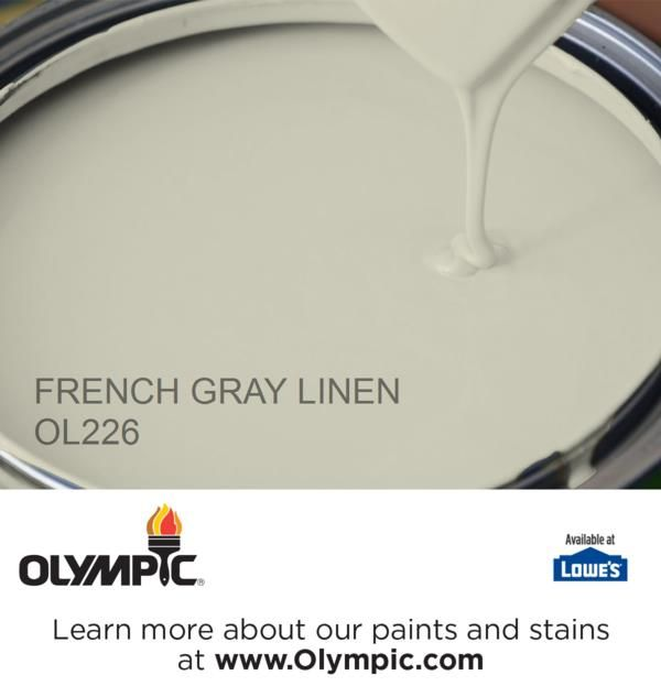 FRENCH GRAY LINEN OL226 is a part of the greens collection by Olympic® Paint.
