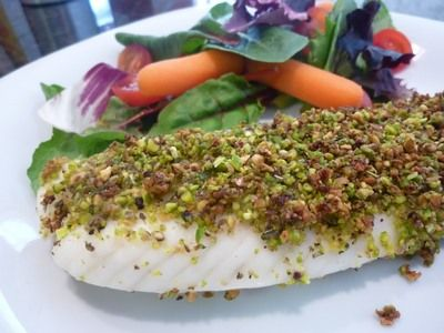 Pistachio Crusted Talapia via NutritionBabes