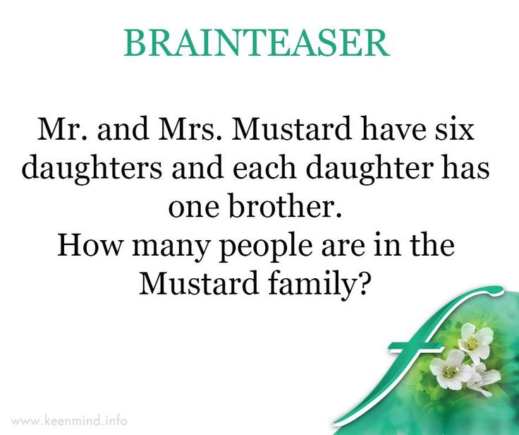 It's #FridayFunDay and time for our #brainteaser. Let's see how much time you take to solve this one. #Flordis #KeenMind