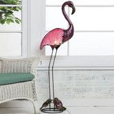 Found it at Wayfair - Cape Craftsmen Flamingo Statue Indoor Floor Lamp and Outdoor Decor