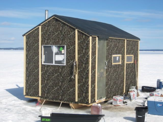The 25 best ice shanty ideas on pinterest ice fishing for Homemade hunting shack
