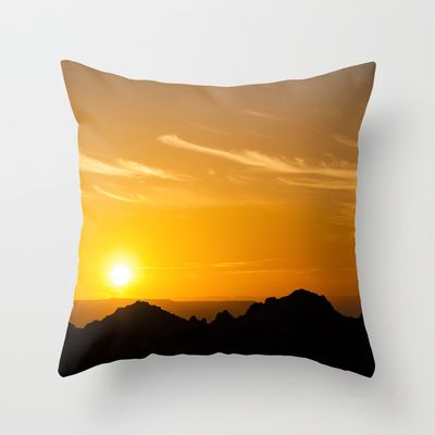 Sunset Throw Pillow by Oscar Tello Muñoz - $20.00