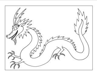 falcor the luck dragon coloring pages | 234 best images about chinese on Pinterest | Paper ...