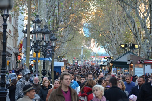 Las Ramblas is the most famous street in Barcelona. It is full of street performers, bars & restaurants, The Boqueria market, Plaza Reial and much much more!