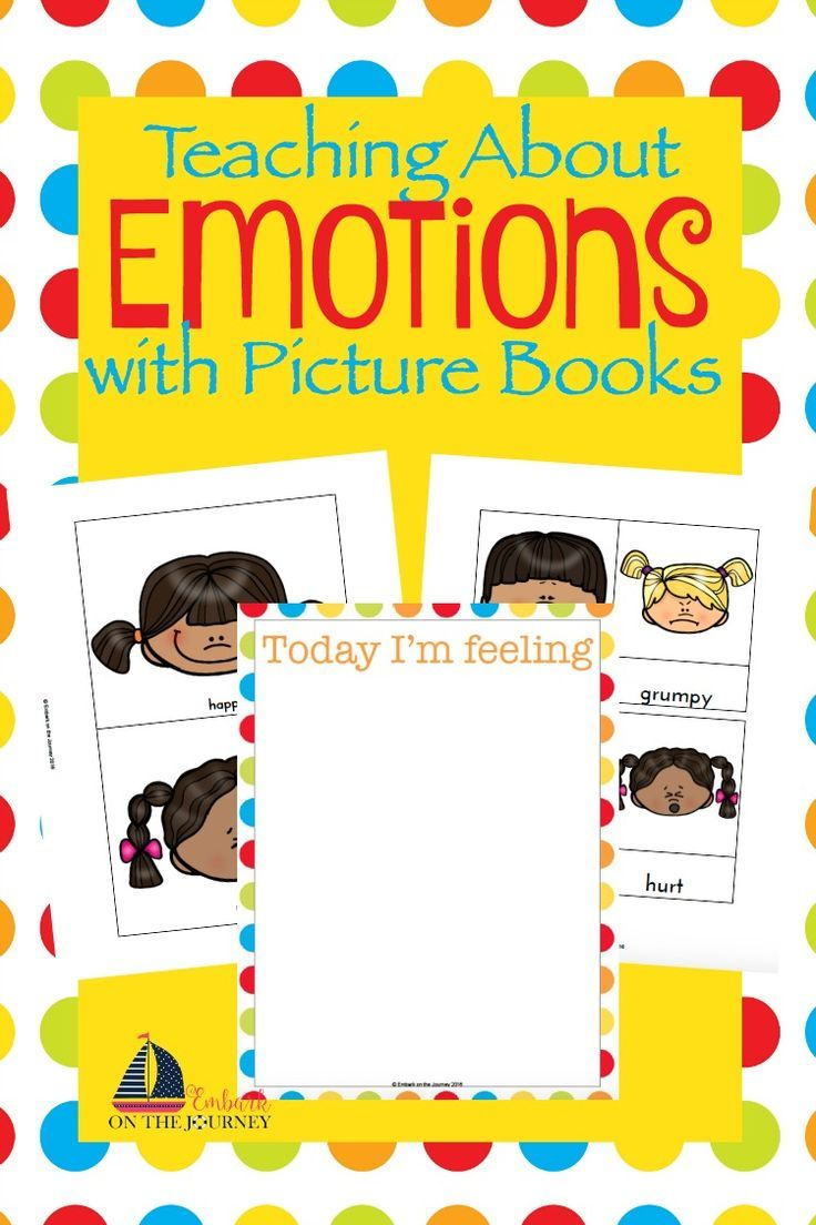 Oftentimes, little ones have a hard time expressing their emotions. Using picture books and my free printables, you can facilitate some wonderful conversations with your little ones about how they're feeling. | embarkonthejourne...