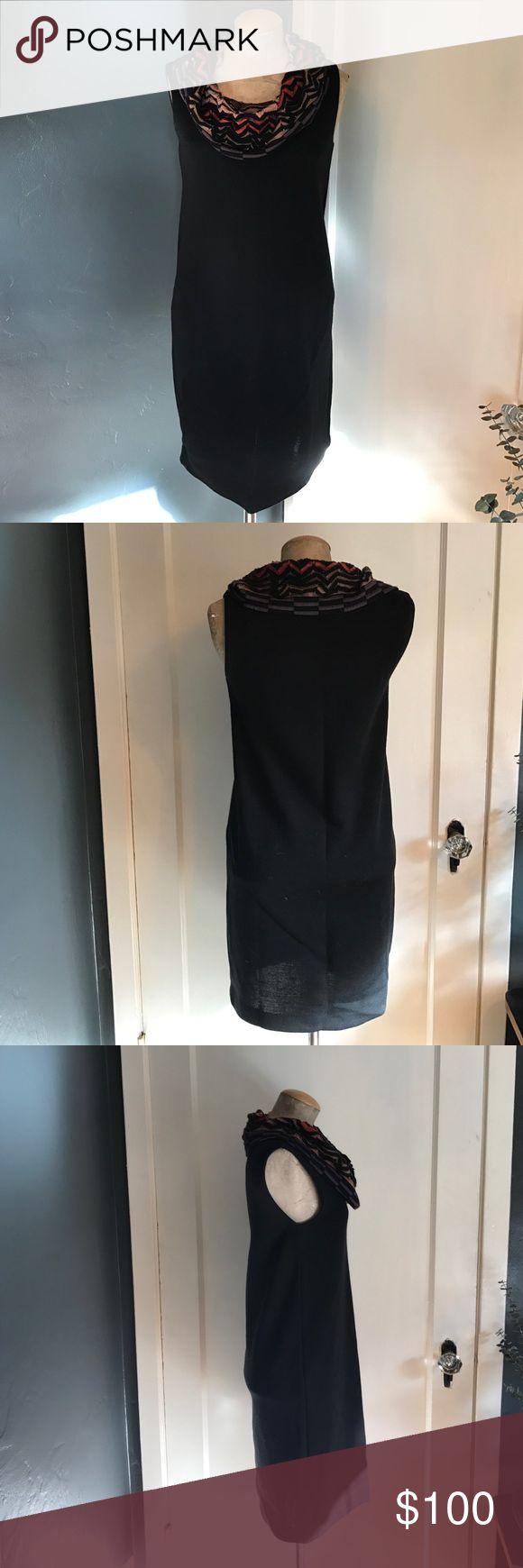 M MISSONI dress I'm selling my M MISSONI dress. The size is unknown but it fits best sz M. It's a black knit with the iconic MISSONI print cowl neck. M by Missoni Dresses