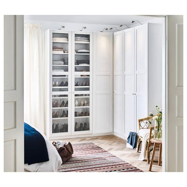 Pax Eckkleiderschrank Weiss Tyssedal Tyssedal Glas Ikea Eckkleiderschrank Schlafzimmer Gestalten Ikea