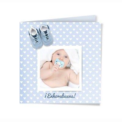 Felicitación de Nacimiento Personalizada. Modelo Baby