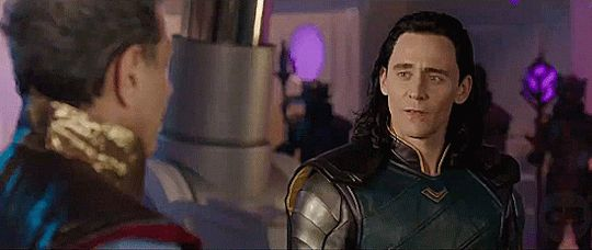He gives him THAT look and suddenly Loki doesn't know what to do lmao