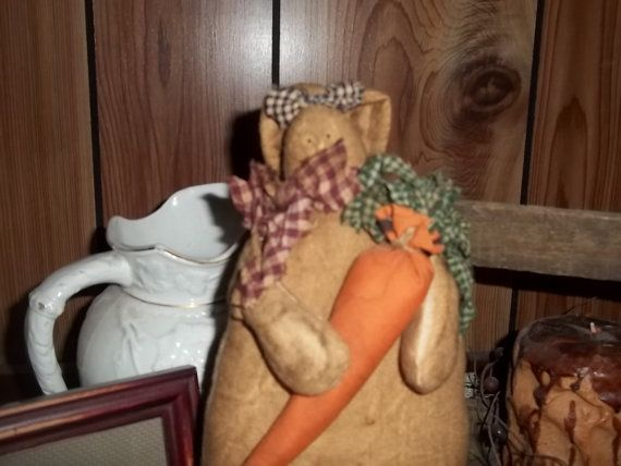Hey, I found this really awesome Etsy listing at https://www.etsy.com/listing/271646916/primitive-hand-made-bunny-carrot-flowers