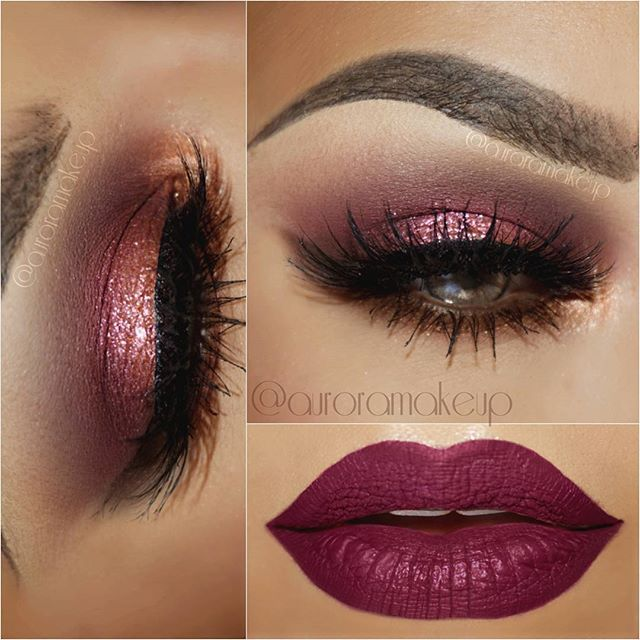 Contrast in Makeup: Blue Eye Shadow and Pink Lipstick