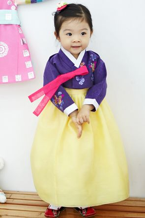 custom made baby girl hanbok 13-007