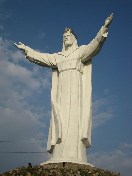 Christ the King (Chrystusa Króla) is a statue of Jesus Christ in Świebodzin, Poland, completed on 6 November 2010. Along with its mound, it reaches 52.5 metres (172 ft)  overall. It is the tallest statue of Jesus in the world.  GO POLAND!!!